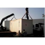 carregamento de container com caminhão munck Bangú