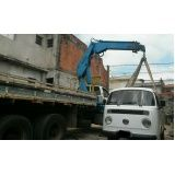 transporte com caminhão munck na Bairro Silveira