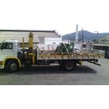 transporte de container com caminhão munck Aricanduva