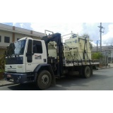 transporte de máquinas com munck preço Mauá