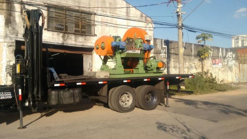 Transporte de Máquina Industrial Santa Paula - Transporte de Máquinas com Munck