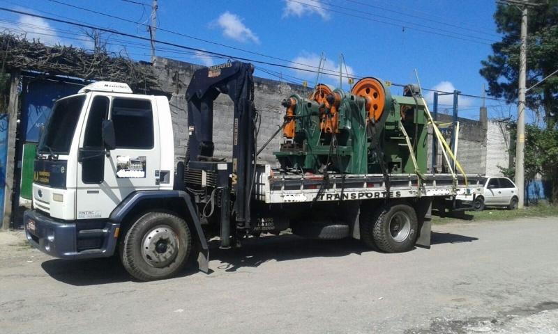 Transporte de Máquinas com Caminhão Munck Preço Jardim Bonfiglioli - Transporte de Equipamentos Industriais