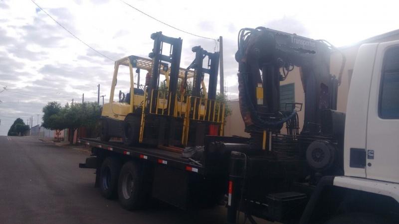 Transporte de Máquinas com Caminhão Munck Jardim de Estádio - Transporte de Máquinas Pesadas