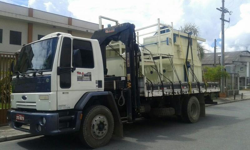 Transporte de Máquinas com Munck Preço Taboão - Transporte de Máquinas Pesadas
