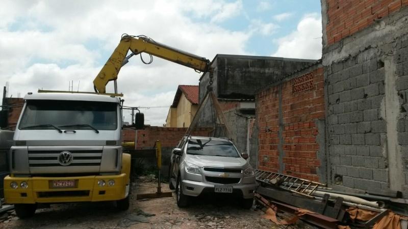 Transporte e Remoção de Máquina Tamanduateí 1 - Transporte de Máquinas com Munck